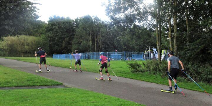 Roller ski coaching day at Hetton nr Durham