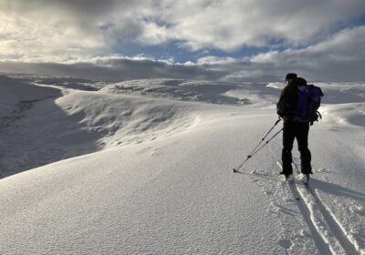 Great Skiing on Kilhope Law nr Allenheads, Northumberland