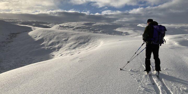 Great Skiing on Kilhope Law nr Allenheads, Northumberland
